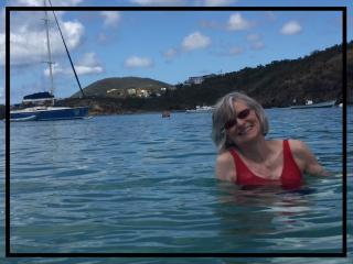 Nancy in the sea