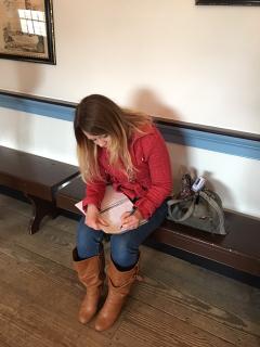 Hannah writing